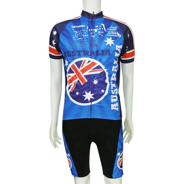 New size L PANAMA Team Cycling Flag Road Bike Set Jersey Bib Shorts Gloves