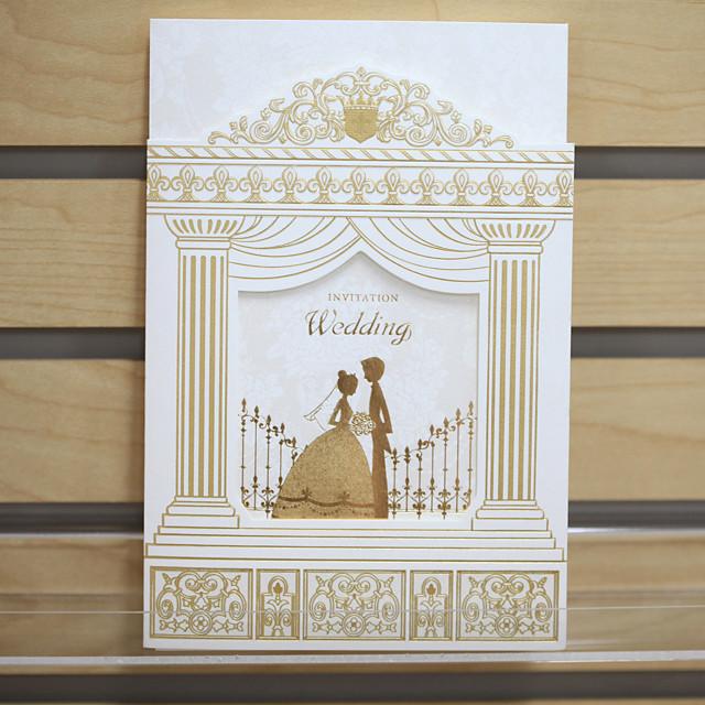 Tri-Fold Wedding Invitations Invitation Cards Formal Style Pearl Paper 8 ½
