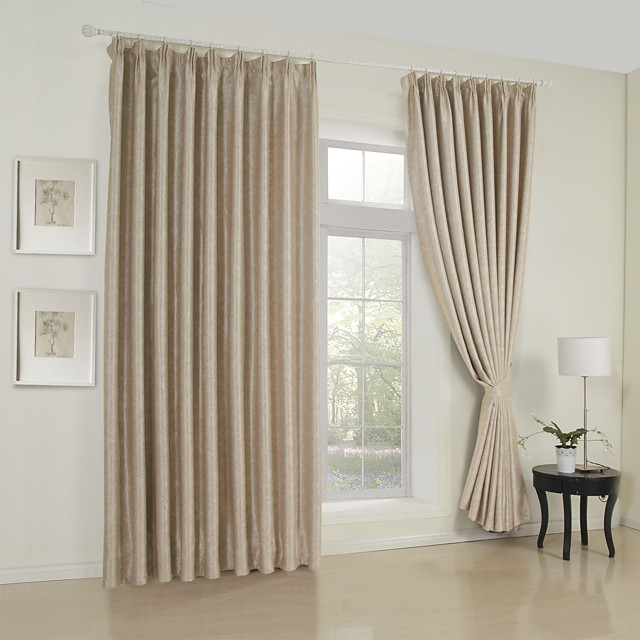 Custom Made Room Darkening Curtains Drapes Two Panels / Embossed / Living Room