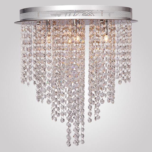 1-Light MAISHANG® 40 cm (16 inch) Crystal / Mini Style Flush Mount Lights Metal Glass Electroplated Modern Contemporary 110-120V / 220-240V / G4