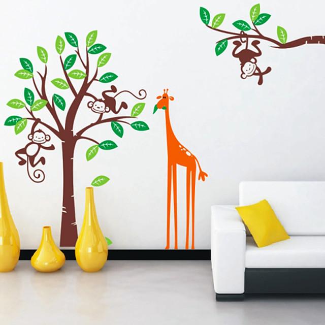 Niños Mono Jirafa Pegatinas de pared