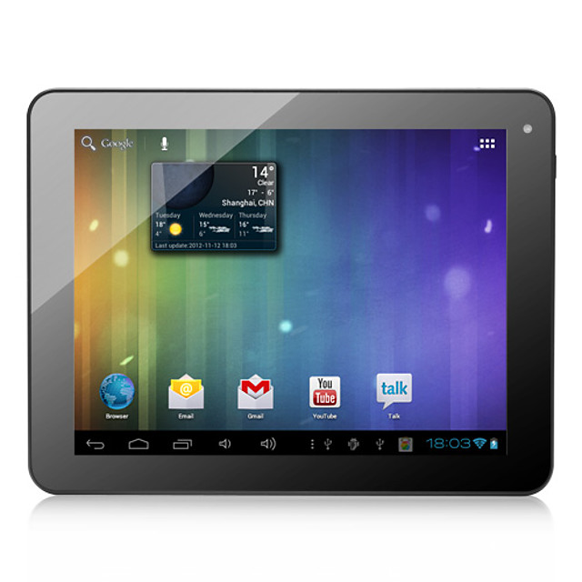 dorado - android 4,0 tablet med 8 tommer kapacitiv skærm (8 GB, wifi, 1.2GHz)