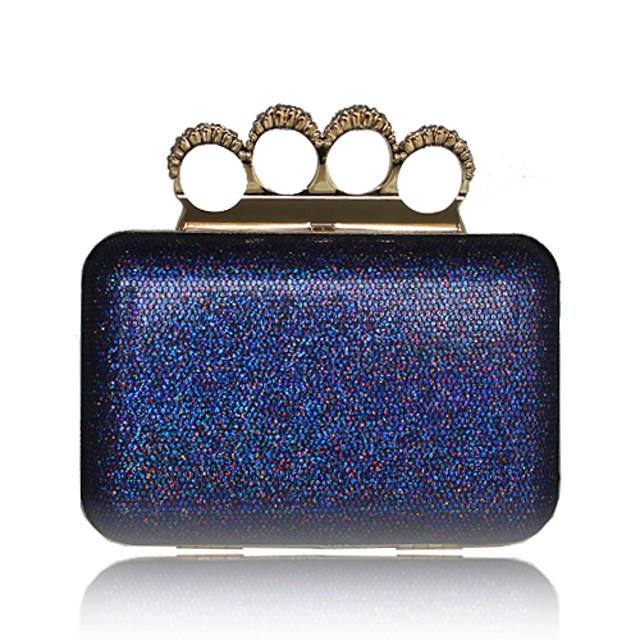 Sparkling Glitter Shell With Rhinestone Evening Bag Handbag Purse Clutch