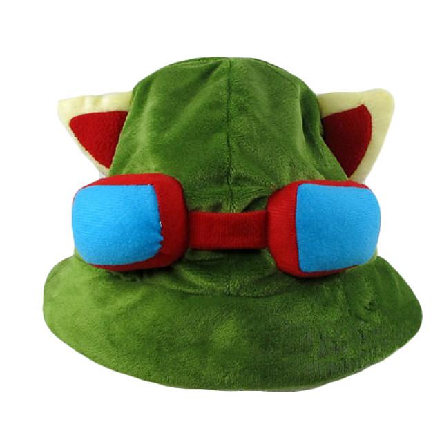 Čepice / klobouk Inspirovaný LOL Teemo Anime a Videohry Cosplay Doplňky Rukáv / Klobouk polar fleece Pánské Halloweenské kostýmy