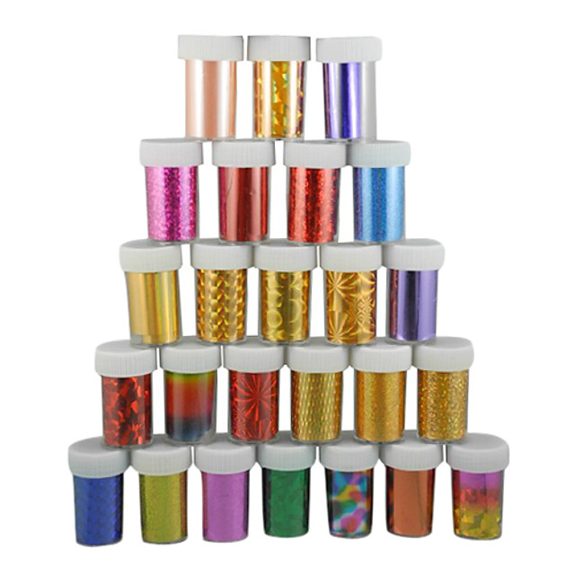 1 pcs Plastic Nail Foil Striping Tape For Finger nail art Manicure Pedicure Daily Abstract / Fashion / Foil Stripping Tape