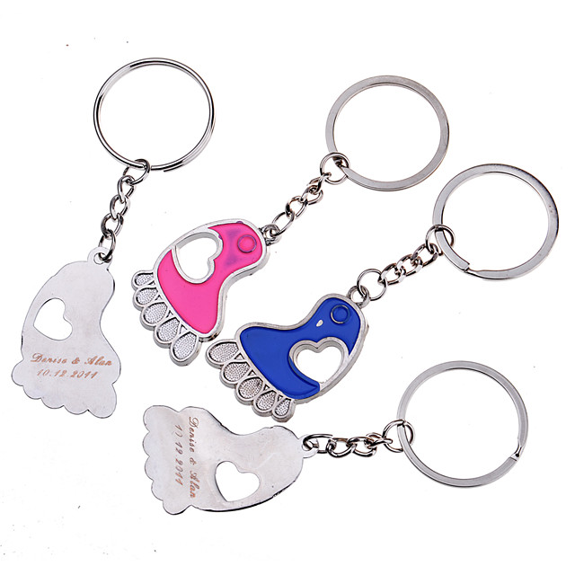 Personalized Key Ring - Feet (Set of 6 Pairs)