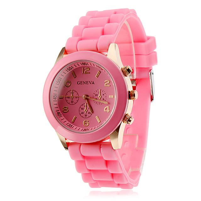 Women's Ladies Wrist Watch Quartz Candy color Casual Watch Analog White Black Purple / Silicone / One Year / One Year / ETA 377A