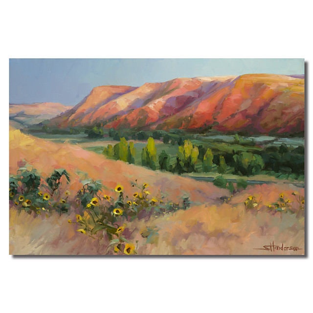 Printed Canvas Art Landscape Indian Hill by Steve Henderson with Stretched Frame