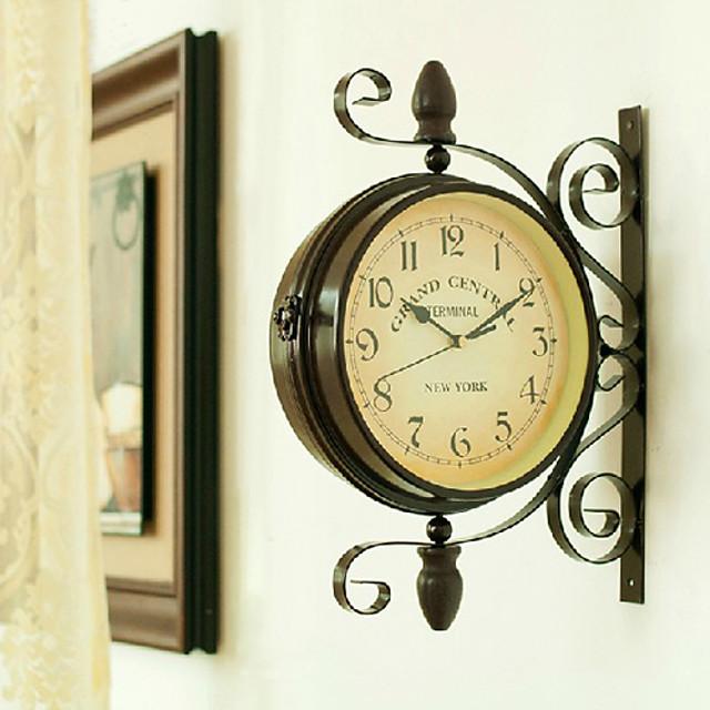 レトロ風 鉄 ノベルティ柄 / 田園 屋内 / 屋外 装飾 壁時計 ハンズ