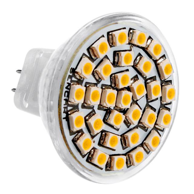1pc 3 W LED สปอตไลท์ 3500 lm MR11 30 ลูกปัด LED SMD 3528 ขาวนวล 12 V