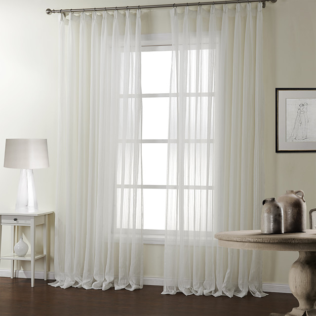 Rod Pocket Grommet Top Tab Double, Double Rod Pocket Sheer Curtains