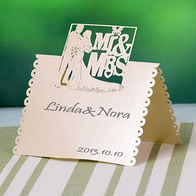 Pearl Paper Place Cards Poly Bag 12 pcs