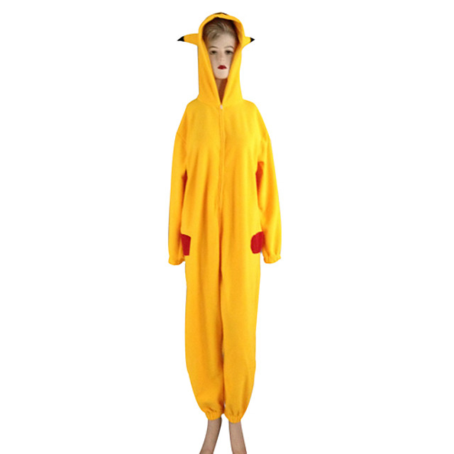 Inspired by Pocket Little Monster PIKA PIKA Video Game Cosplay Costumes Cosplay Suits / Kigurumi Pajamas Long Sleeve Leotard / Onesie Costumes