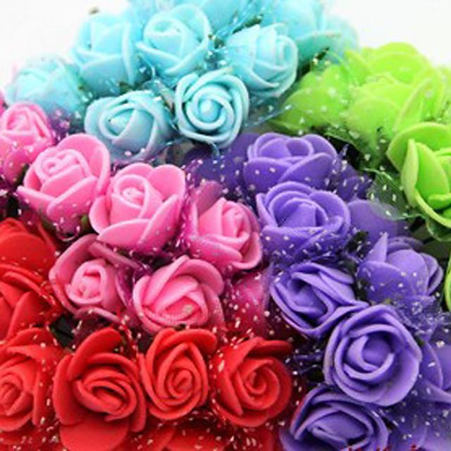 Свадьба Декор высокий уровень имитация искусственных роз - набор 144 цветов (больше цветов)