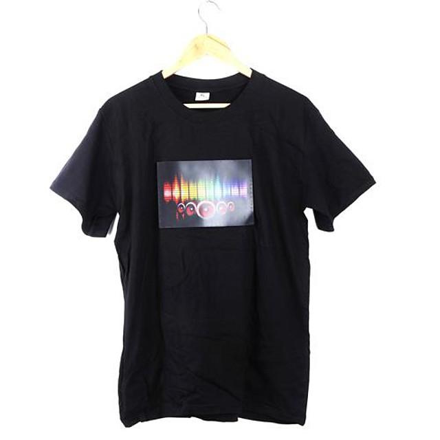 Самые популярные музыка Активированный мигающий Красочный эквалайзер электронной танцевальной LED футболку