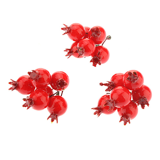 3 pack Small Red Fruit Christmas Decoration Christmas Tree Ornament