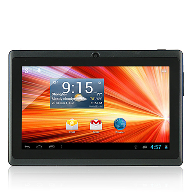 A33 7 inch แท็บเล็ต Android (Android 4.4 1024 x 600 Quad Core 512MB+8GB) / TFT / # / 32 / 1.3 / TFT
