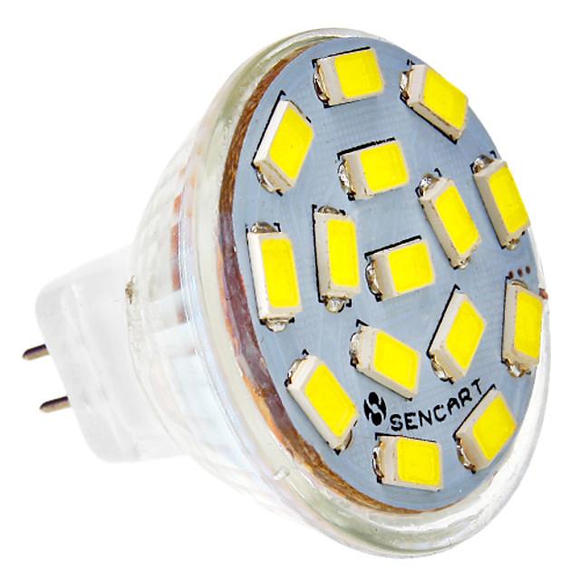310-320lm GU5.3(MR16) LED Spotlight MR11 15 LED Beads SMD 5730 Cold White