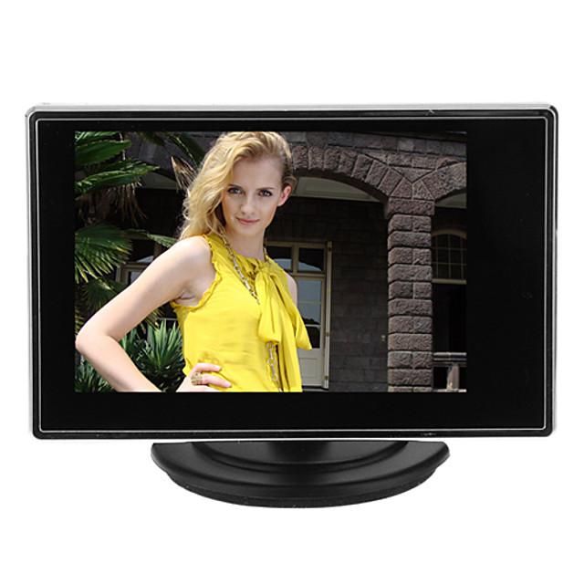 Instrument 3.5 Inch TFT LCD Adjustable Monitor for CCTV Camera with AV RCA Video Sound Input for Security Systems 15*14cm 0.121kg