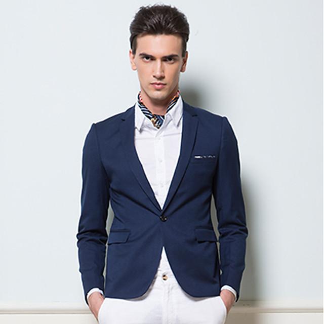 BOSIBIO Men's Slim Joint Business(Navy Blue)