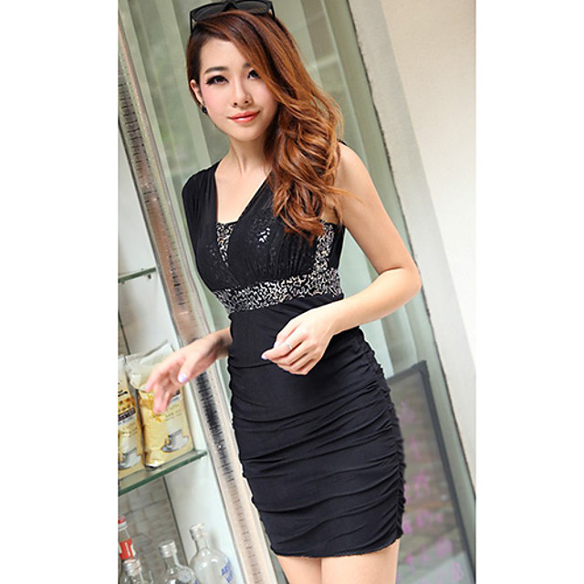 YFX Women's Sequin Lace Fitted Dress
