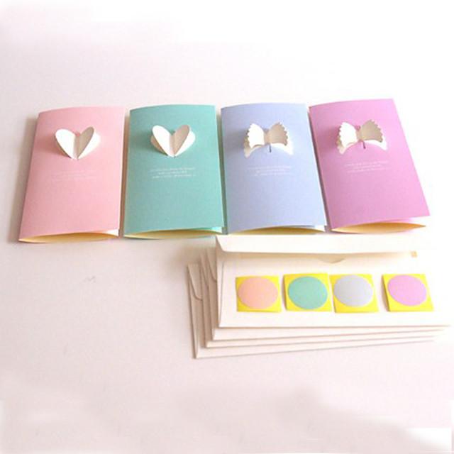Три раза выреза поздравительные открытки - Набор из 6 (больше цветов)