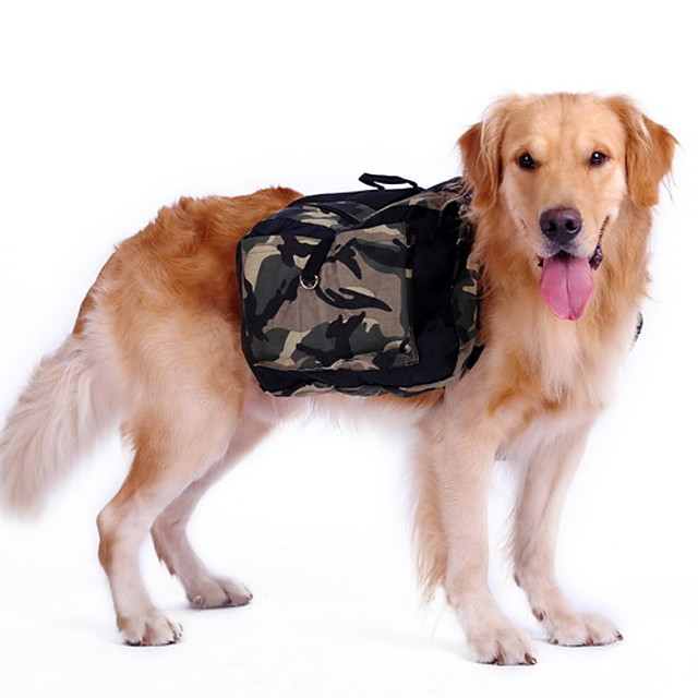 Cachorro Mochila para Cachorro Sela De Cão camuflagem Náilon Husky Labrador Malamute do Alaska Verde