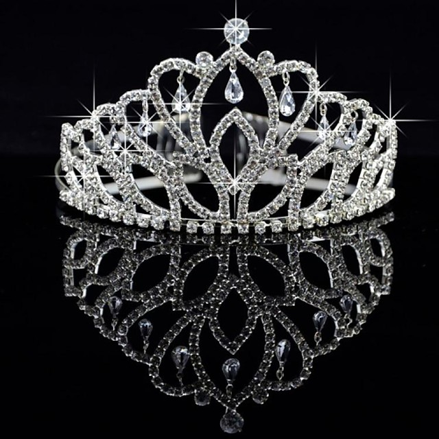 Crystal Alloy Tiaras 1pc Wedding Special Occasion Party Evening Headpiece Crown
