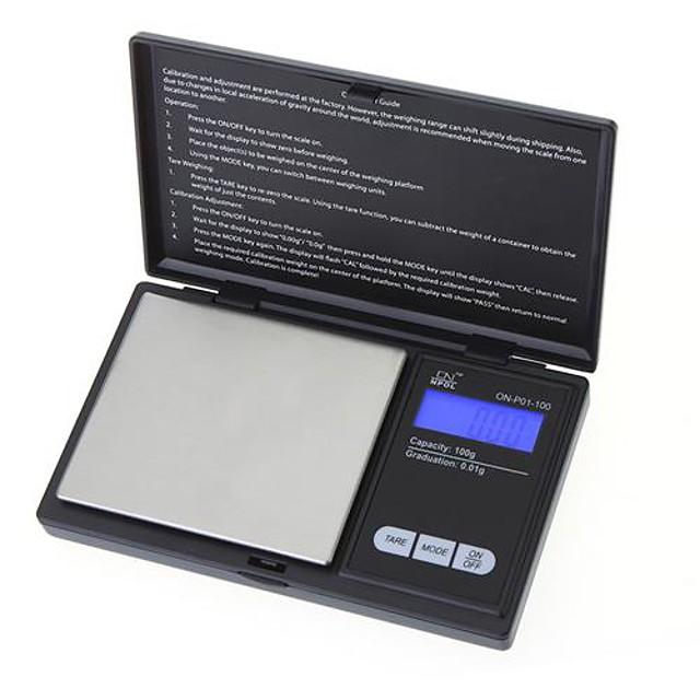 100g * 0.01g Mini LCD Electronic Digital Pocket Scale Jewelry Gold Diamond Weighing Scale Gram Weight Scales