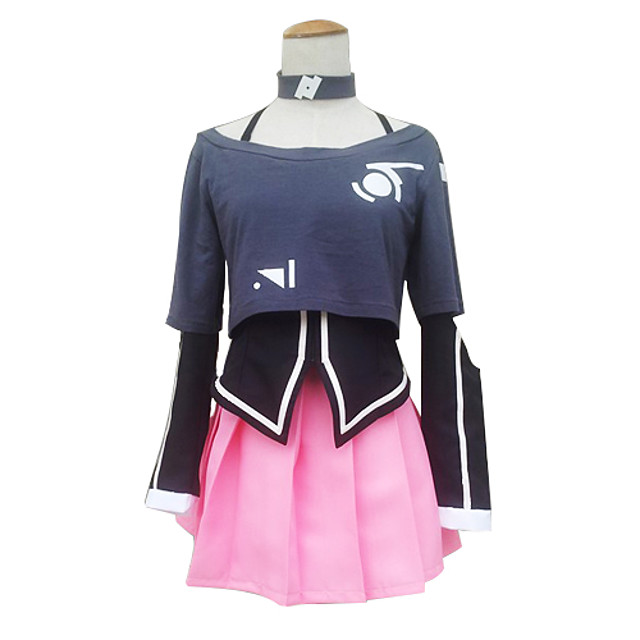 Inspired by Vocaloid IA Video Game Cosplay Costumes Cosplay Suits / Dresses Pattern Long Sleeve Coat Skirt Collar Costumes