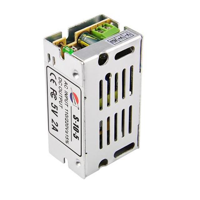 1PC DC2A/5V 10W LED Light Power Adapter Not-Waterproof Aluminum shell AC110-220V,50/60Hz