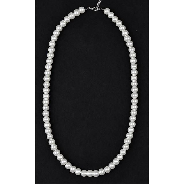 Women's Pearl Beaded Necklace Pearl Necklace Ladies Pearl Imitation Pearl Ivory Necklace Jewelry For Wedding Party Daily Casual