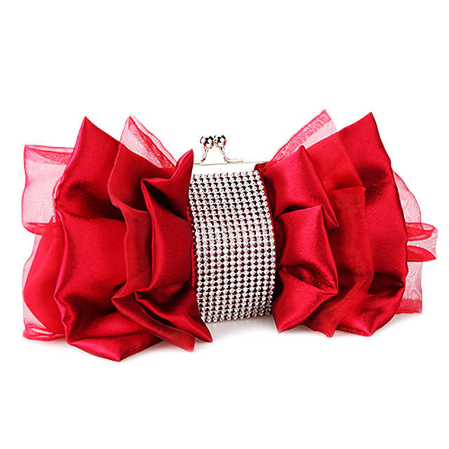 Women's Bags Satin Evening Bag Zipper Floral Print Party Event / Party Evening Bag Wedding Bags Handbags Almond Black Red Fuchsia