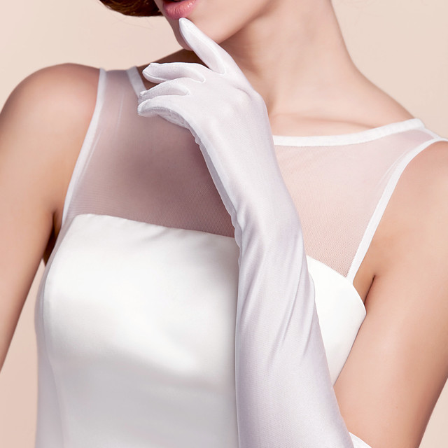 Spandex / Cotton Wrist Length / Opera Length Glove Charm / Stylish / Party / Evening Gloves With Embroidery / Solid