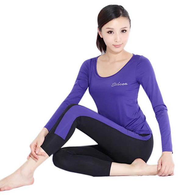 Yoga Casual sportswear Suits 2 sets(Long sleeve Yoga T-Shirt+Yoga Pants)