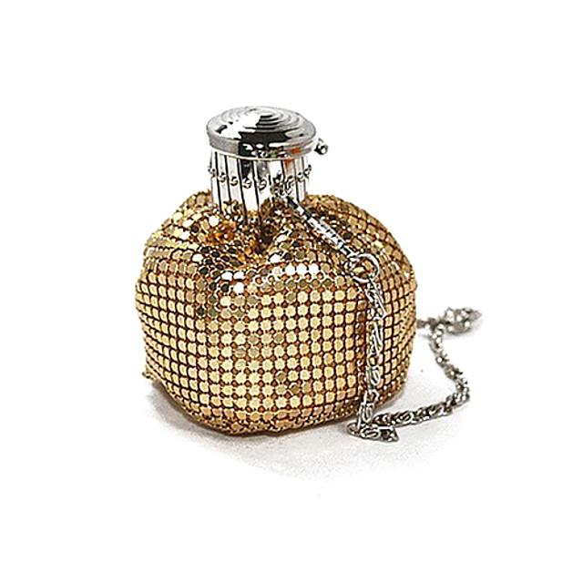 Women's Crystals Nylon / Metal Evening Bag Rhinestone Crystal Evening Bags Black / Gold / Silver
