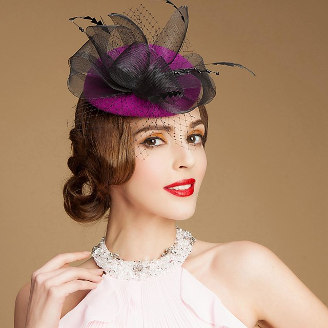 Gemstone & Crystal / Wool Fascinators / Hats / Headpiece with Crystal 1 Wedding / Special Occasion / Party / Evening Headpiece