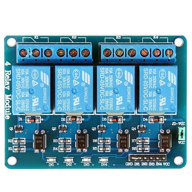 4 Channel 5V Module de relais Black and Blue