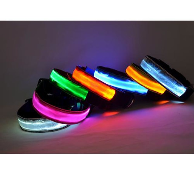 Dog Collar Light Up Collar Reflective LED Lights Adjustable / Retractable Nylon White Yellow Red Blue Pink