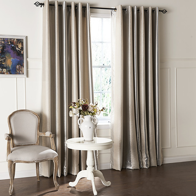 Custom Made Blackout Curtains Drapes Two Panels  / Embossed / Living Room