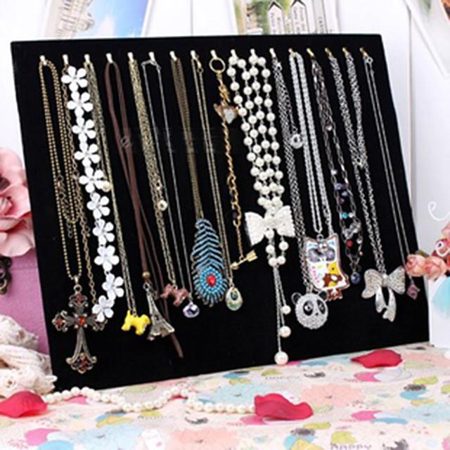 Square Jewelry Displays - Fashion Black 37.5 cm 30.5 cm 3 cm / Women's