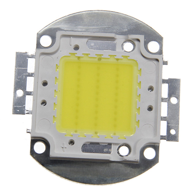 ZDM 1PC DIY 30W 2800-3200LM Warm White Cold White Naturally White 3000-6500K  Light Integrated LED Module (DC33-35V 0.8A) Street Lamp for Projecting Light  Gold Wire Welding of Copper Bracket