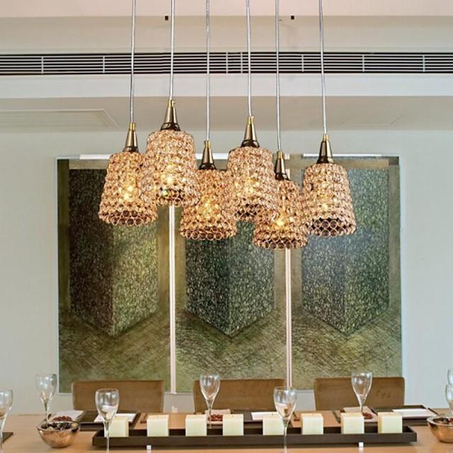 Moderno/Contemporáneo Tradicional/Clásico Cristal Lámparas Colgantes Luz Downlight Para Sala de estar Dormitorio Comedor Habitación de