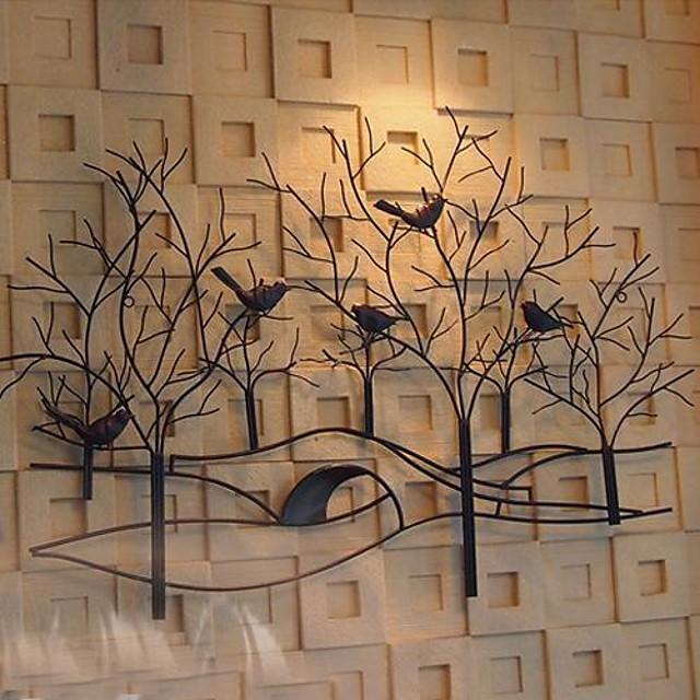 金属壁アート壁の装飾の鳥や香りの花の壁の装飾