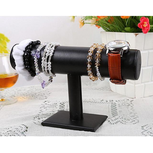 Flower Jewelry Displays - Leather, Wood Fashion Black 5 cm / Women's