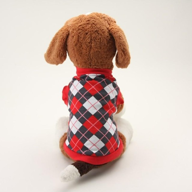 Dog Shirt / T-Shirt Plaid / Check Classic Casual / Daily Dog Clothes Breathable Black Blue Costume Cotton XS S M L
