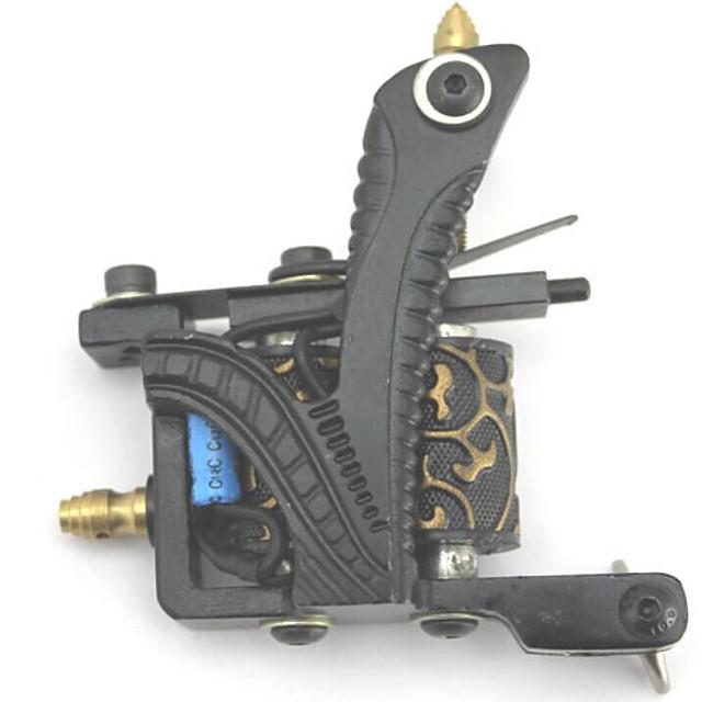 Professional Tattoo Kit Tattoo Machine - 4 pcs Tattoo Machines, Professional LCD power supply 4 cast iron machine liner & shader / Case Included