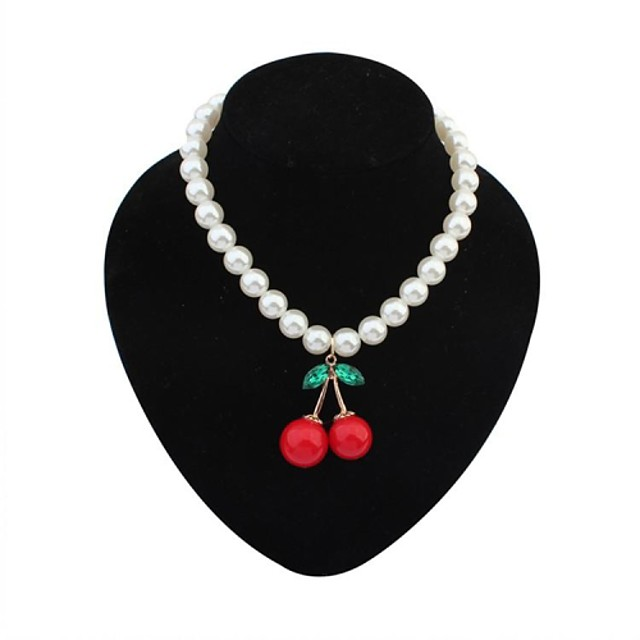 Pendant Party Work Casual Imitation Pearl Acrylic Alloy Screen Color Necklace Jewelry For