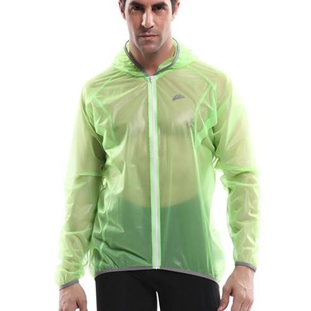 Hombre Bicicleta Paravientos Top Ropa para Ciclismo Impermeable Resistente a los UV Transpirable Camping y senderismo Ejercicio y Fitness