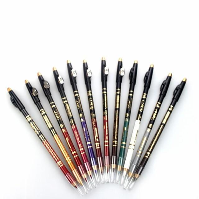 12 couleurs Fards à Paupières Eyeliner Stylos & Crayons Maquillage Œil Etanche Longue Durée Cosmétique Accessoires de Toilettage